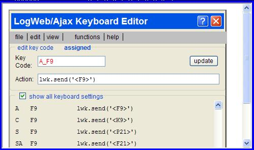 Keyboard editor