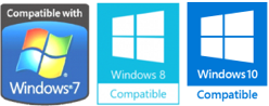 Windows 7/8/10 compatible